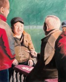 Elderly Chinese men playing cards in Beijing