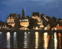 View of Paris lights at night