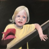 Portrait of three year old girl