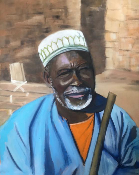 Malian man posing in his village