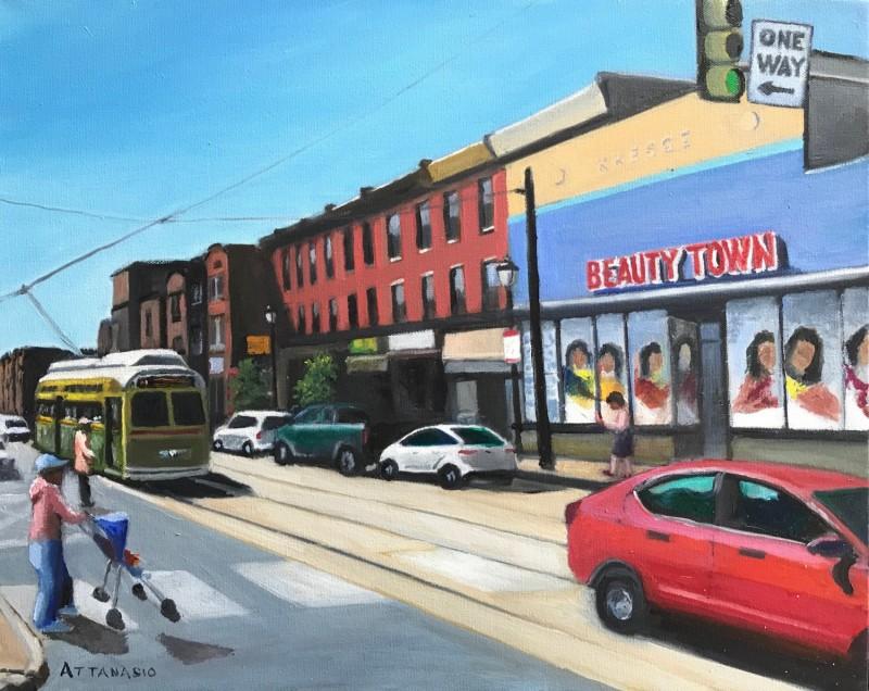 Beauty Town, Gerard Ave, Philadelphia, Trolly, Street Car, John Attanasio